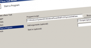 Periodically upload files to SharePoint using Powershell - Alain de